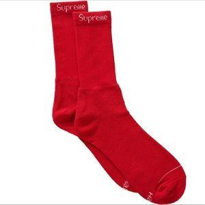 1 new red supreme Hanes socks